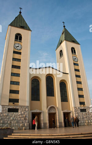 Church, sanctuary in Medjugorje, Bosnia and Herzegovina, Europe - Stock Photo