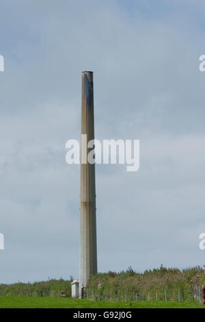 damaged wind turbine - Stock Photo