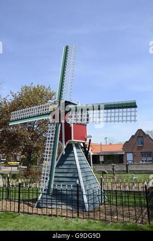 Windmill in Dutch Village in Holland, Michigan - Stock Photo