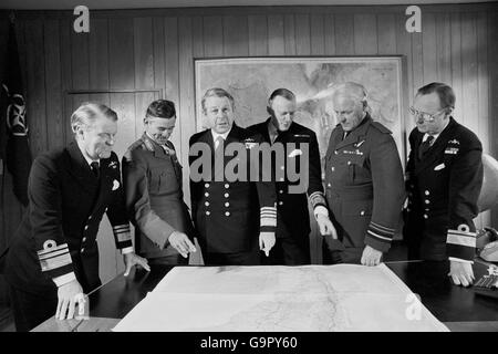 Falklands War - Commandign Officers - Stock Photo