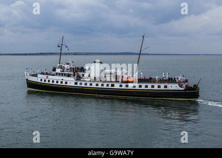 MV Balmoral Departing from Southend-on-Sea - Stock Photo