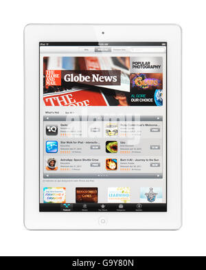Apple iPad 2 tablet computer with app store on its display - Stock Photo