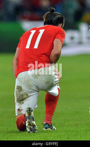 Lille Metropole, France. 01st July, 2016. Gareth Bale of Wales during the UEFA EURO 2016 quarter final soccer match - Stock Photo