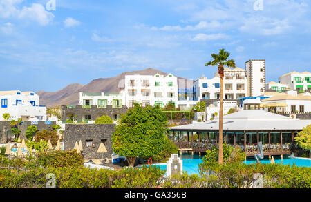 Holiday villas in Rubicon marina, Lanzarote, Canary Islands, Spain - Stock Photo