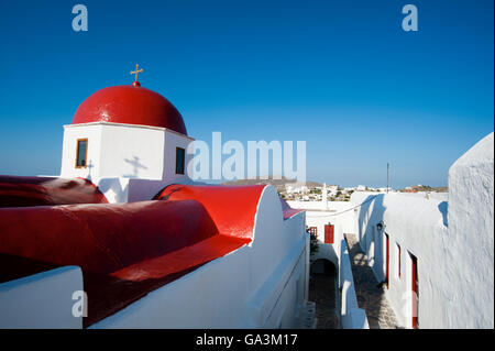 Panagia Tourliani Monastery, Ano Mera, Mykonos, Cyclades, Greece, Europe - Stock Photo
