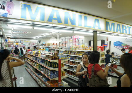 Filipino sundry shop in Kuala Lumpur, Malaysia - Stock Photo