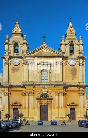 Malta, Mdina - St Paul's cathedral - Stock Photo