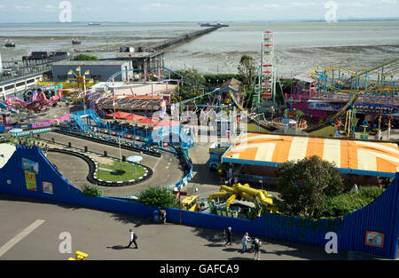 Sea front arcades at Southend-on-Sea. Essex.UK - Stock Photo