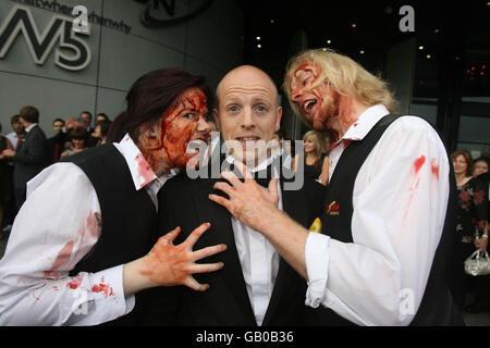 Belfast's first zombie horror film - Stock Photo