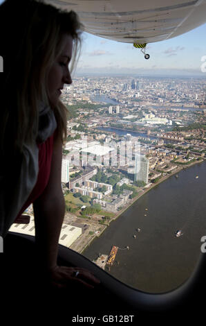 The Stella Artois Star Over London - Stock Photo