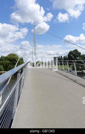 Christchurch Bridge over the River Thames at Reading -2 - Stock Photo