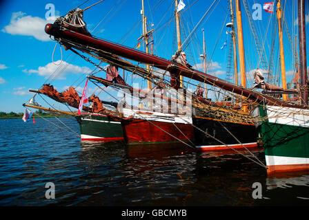Sommer, Ostsee, Segelhafen, Binnenhafen, Hansestadt, Rostock, Mecklenburg-Vorpommern, Deutschland - Stock Photo