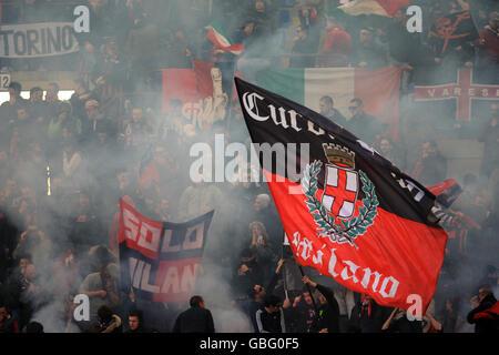 Soccer - Italian Serie A - AC Milan v Atalanta - San Siro - Stock Photo