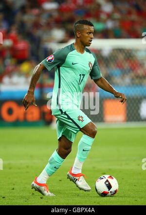 Lyon, France. 06th July, 2016. Nani of Portugal during the UEFA EURO 2016 semi final soccer match between Portugal - Stock Photo