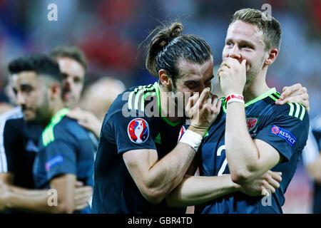 Lyon, France. © D. 6th July, 2016. Gareth Bale (WAL) Football/Soccer : UEFA EURO 2016 Semi-finals match between - Stock Photo