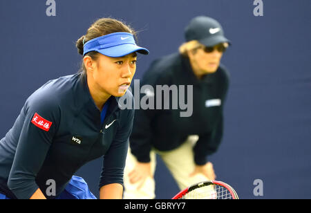 Shuai Zhang (China) playing in the qualifying round, Aegon International, Eastbourne, 2016. - Stock Photo