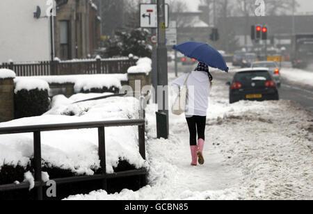 Winter weather Feb25th - Stock Photo
