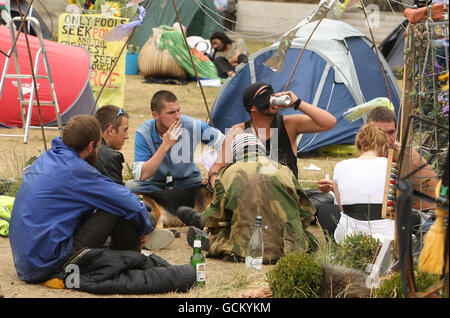 Parliament Square camp case - Stock Photo