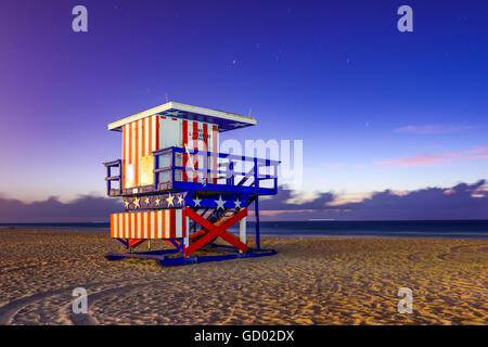 Miami Beach, Florida, USA at the break of dawn. - Stock Photo
