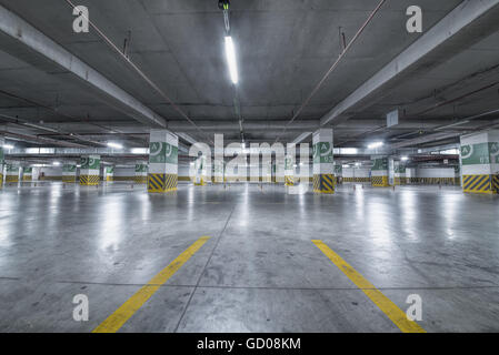 Underground parking Garage - Stock Photo