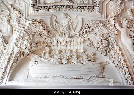 fine arts, stucco, church of St. Peter and St. Paul, built: 1668 - 1676, Vilnius, Lithuania, Artist's Copyright - Stock Photo
