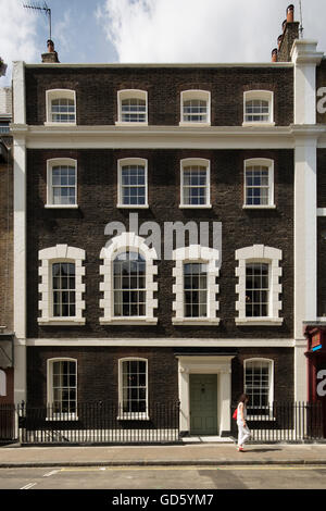 View of Front facade. 76 Dean Street, London, United Kingdom. Architect: SODA., 2016. - Stock Photo