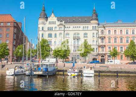 View Across The North Harbour Helsinki Finland - Stock Photo