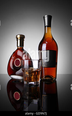 Bottles of alcohol - Stock Photo