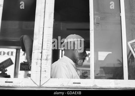 Dhaka bus journey - Stock Photo
