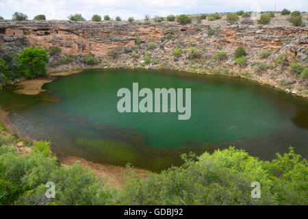 Montezuma Well, Montezuma Castle National Monument, Arizona - Stock Photo