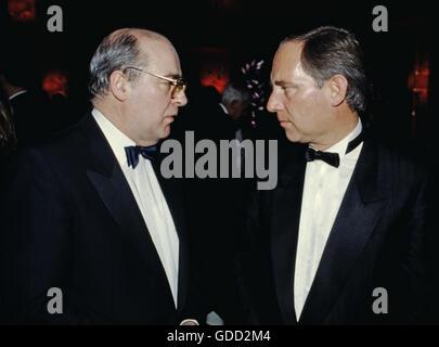 Schäuble, Wolfgang, * 18.9.1942, German politician (Christian Democratic Union), half length, with Horst Pehnert, - Stock Photo
