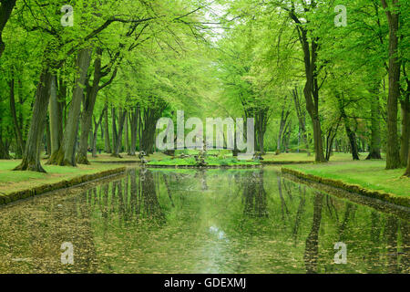 Hofgarten, Neues Schloss, Bayreuth, Bavaria, Germany, New Castle - Stock Photo