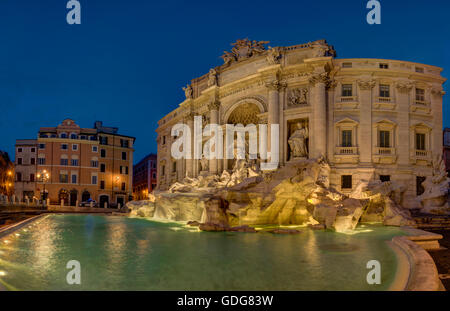 Trevi Fountain (Fontana di Trevi), Rome, Italy - Stock Photo