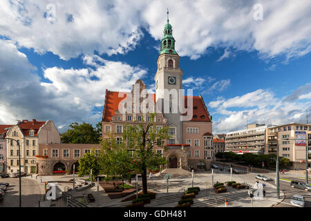 Olsztyn Neo-Renaissance town hall, Poland, Europe. - Stock Photo
