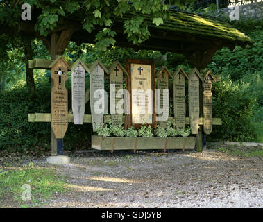 geography / travel, Germany, Bavaria, tradition / folklore, memorial tablets, 20th century, - Stock Photo