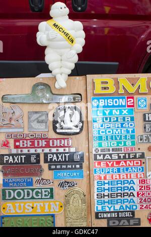 Vintage, classic collectors memorabilia, for sale. - Stock Photo