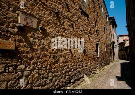 'Calle de las Lindas' Street - Santillana del Mar - Spain - Stock Photo