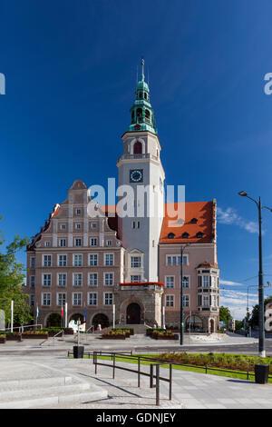 Olsztyn, Neo-Renaissance town hall, Poland, Europe. - Stock Photo