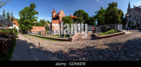 Olsztyn panorama of the Gothic castle, Poland, Europe. - Stock Photo