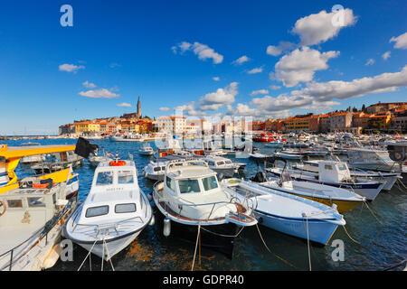 Rovinj harbor - Stock Photo