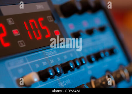 FM VHF and HF transceiver for radio communication and broadcasting - Stock Photo