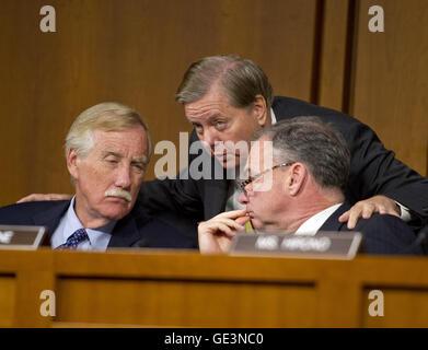 September 16, 2014 - Washington, District of Columbia, United States of America - United States Senators Angus S. - Stock Photo
