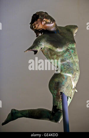 Italy Sicily Mazara del Vallo dancing satyr Museum - Stock Photo