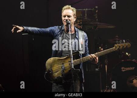 Calgary, AB, CAN. 23rd July, 2016. STING performs in Calgary with PETER GABRIEL during their Rock Paper Scissors - Stock Photo