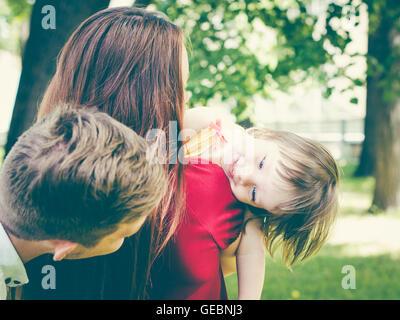 Family having fun in summer - Stock Photo