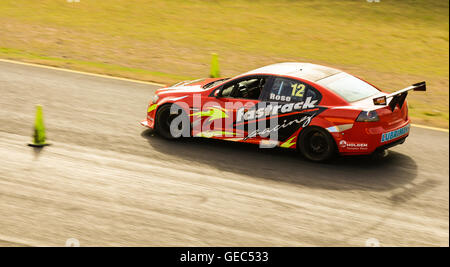 Sydney motorsport park, Eastern Creek, Australia on 16 July 2016: Commercial Race V8 sedan car at a racing ring. - Stock Photo