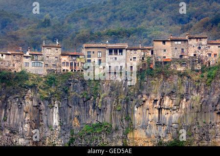 Castellfollit de la Roca,Girona province, Catalonia, Spain - Stock Photo