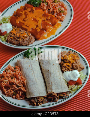 Mexican dinner - Stock Photo