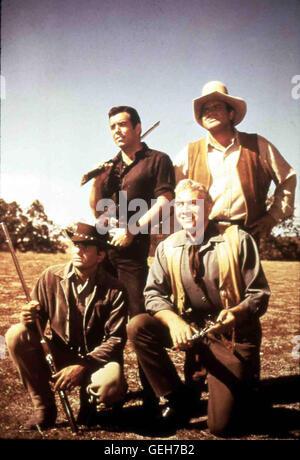 Bonanza - Western-Serie 1959-1973  The Cartwright Family  Adam (PERNELL ROBERTS), Joseph -LIttle Joe- (MICHAEL LANDON), - Stock Photo