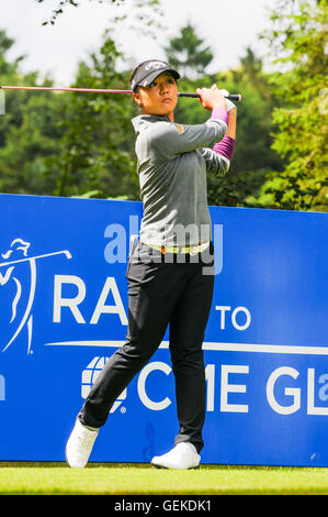 Buckinghamshire, UK. 27th July, 2016.  RICOH WOMEN'S BRITISH OPEN 2016 Practise day at Woburn Golf & Country Club - Stock Photo
